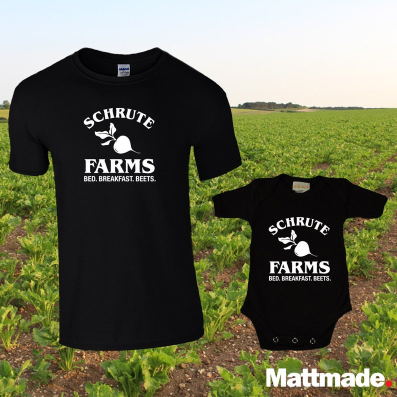 e8fd80e0 Schrute Farms / The Office Dad and Baby Matching shirts /   Etsy