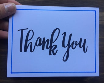 Thank You Greeting Card | Border Greeting Card | Thank You Note