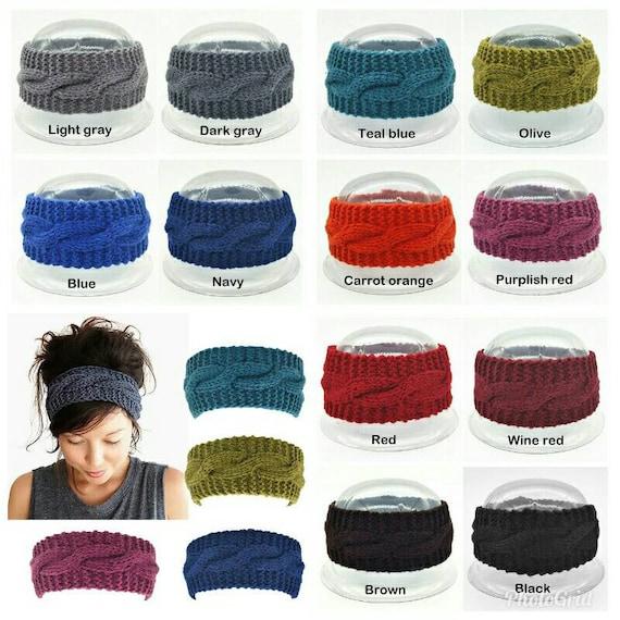 69fb6667e88 Women s Wool Crochet Turban Headband Winter Warm Elastic