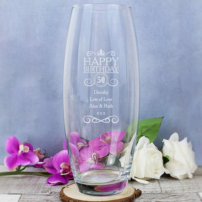 b201191d24d Personalised Birthday Bullet Vase Anniversary Gift