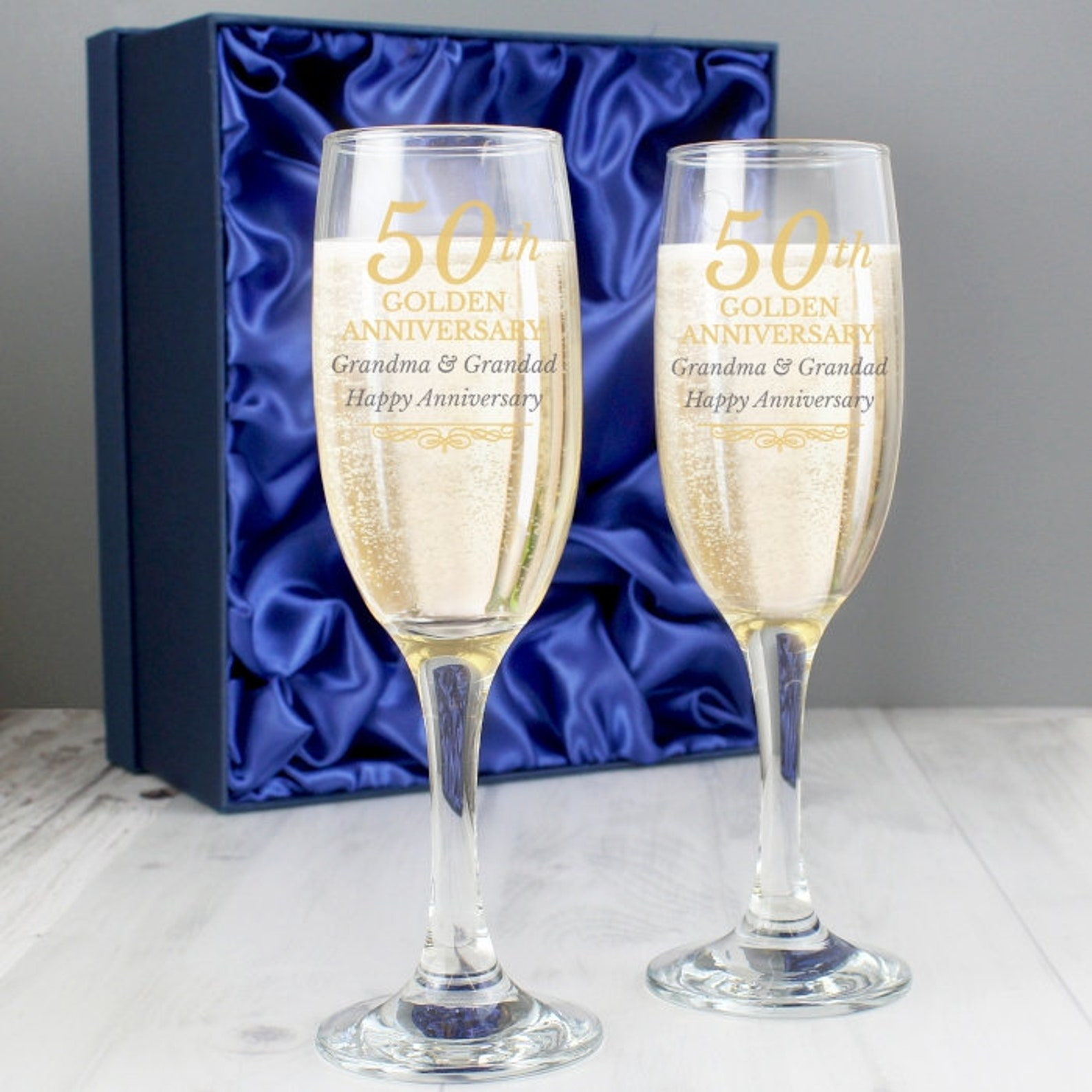 Personalised pair of flutes