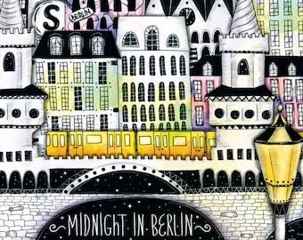 "Art print ""Midnight in Berlin"""