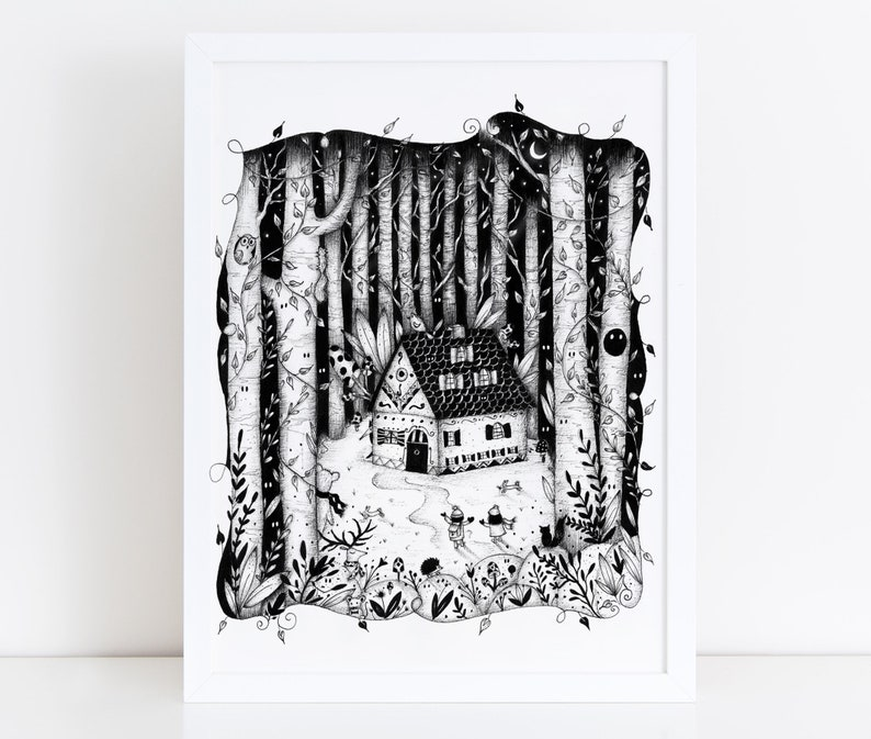 MAGIC LITTLE HOUSE Illustration / Drawing / Print / Poster / image 0