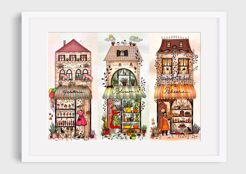 COLORFUL SWEETS Illustration / Drawing / Print / Poster / Fine image 0