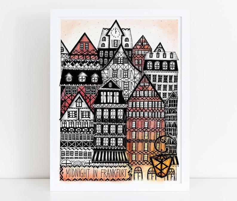 FRANKFURT Illustration / Drawing / Print / Poster / Fine Art image 0