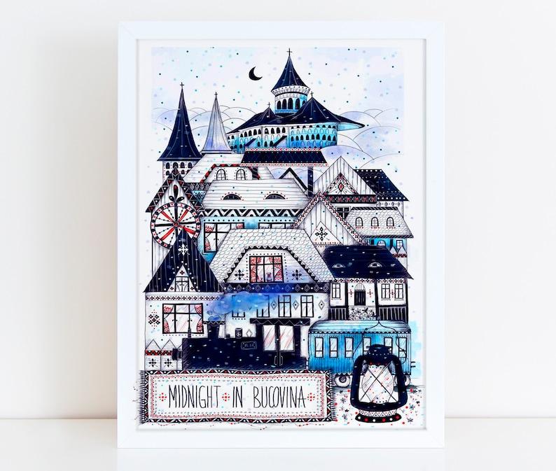 BUCOVINA Illustration / Drawing / Print / Poster / Fine Art image 0