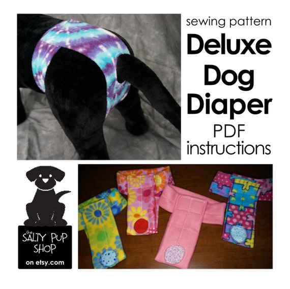 Medium - DIY Deluxe Dog Diaper PDF Instructions