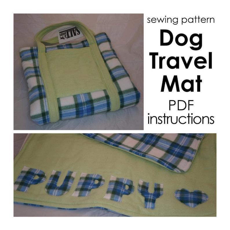 DIY Dog Travel Mat PDF Instructions