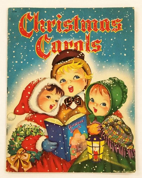 Vintage Christmas Carols Book By Whitman Pb Karl Schulte Etsy