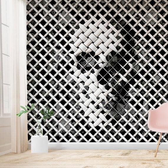Wicker Cráneo Wallpaper Home Decor Efecto 3d Blanco Y Negro Cráneo Arte Papel Pintado Tradicional Mural Gótico Pared Azúcar Cráneo Impresión Pared