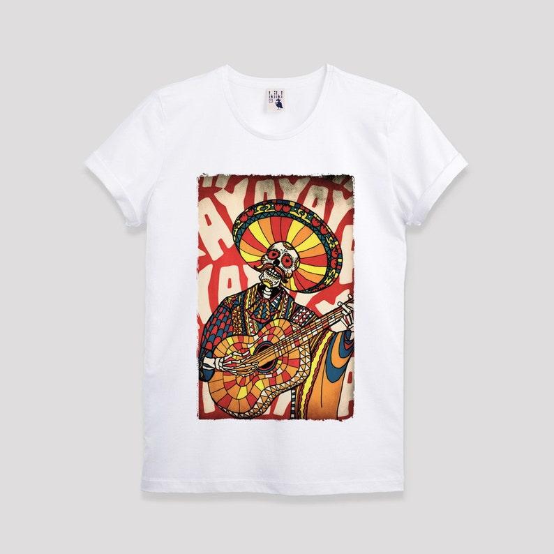 abb409f95bff SALE Mariachi Skull Men s T shirt Sugar Skull