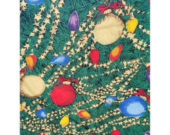 """Tablecloth Christmas 60"""" x 119"""" Ornaments Craft fabric NEW UNUSED"""