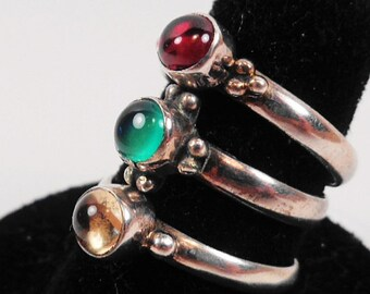 Three Silver Rings Sold Together.