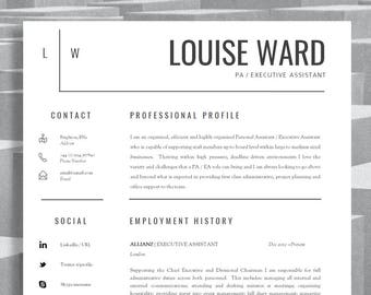 resume template cv template cover letter resume advice for ms word instant digital download mac or pc aldgate resume template
