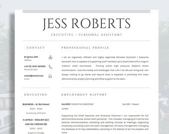 cv template résumé template for word cover letter advice etsy