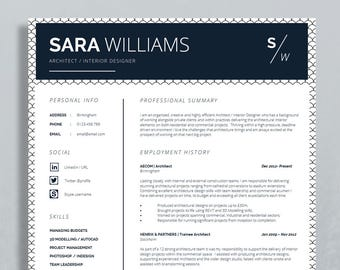 Cv Curriculum Vitae Resume Template Cv Template Cover Etsy