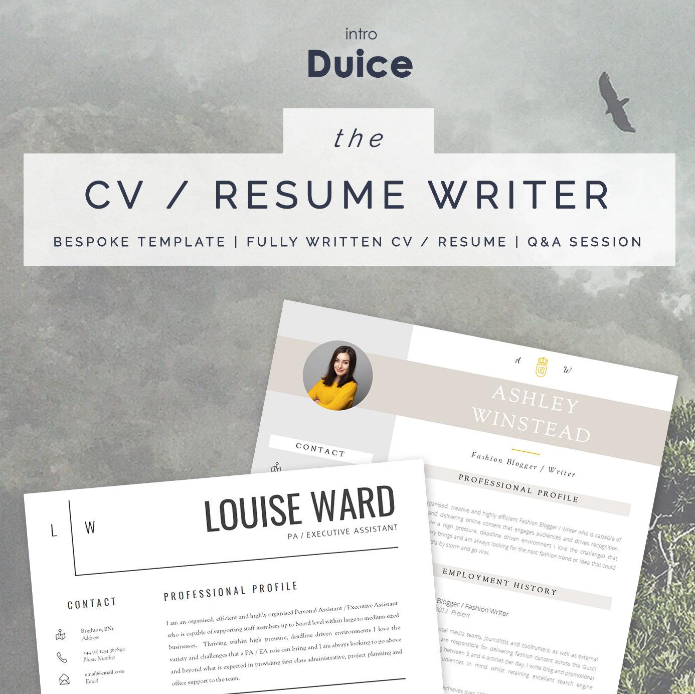 Servicio de escritura de CV personalizado