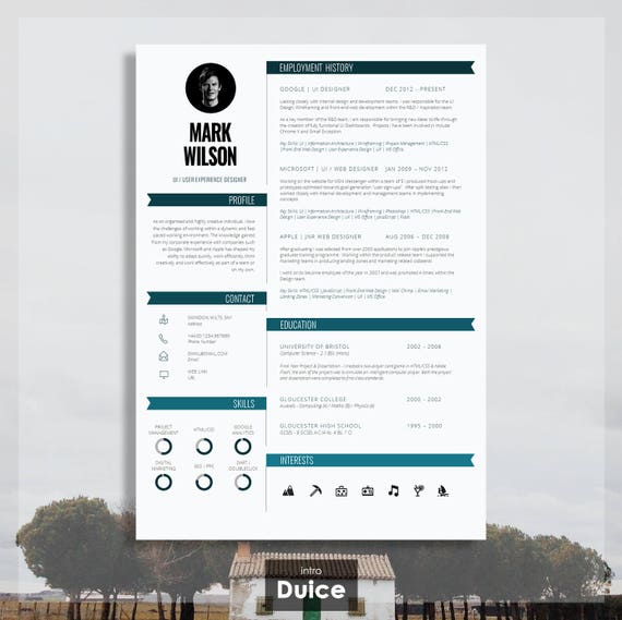 modern resume templates for microsoft word