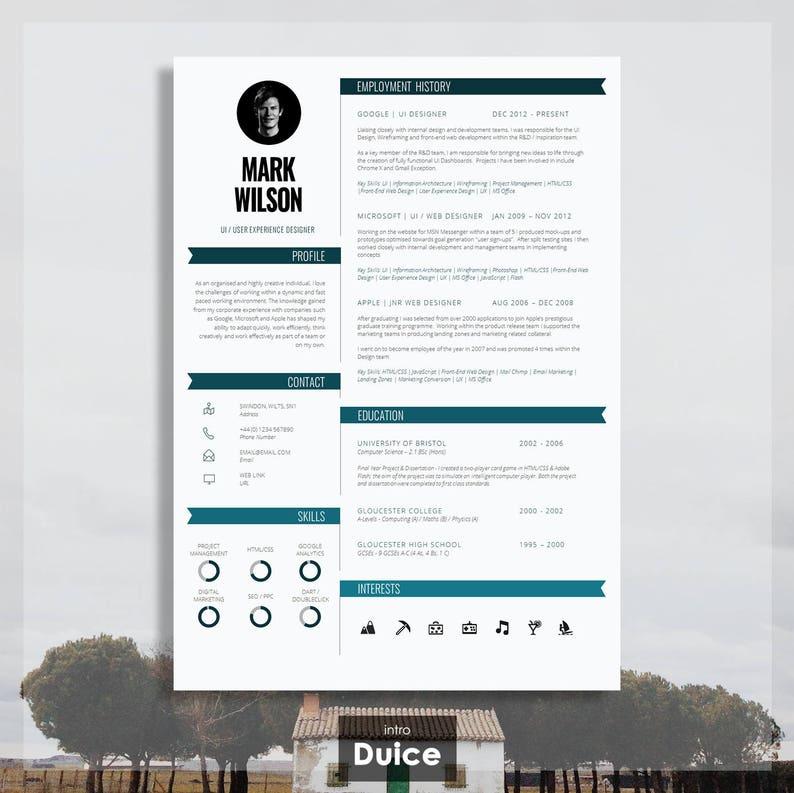 modern resume template modern cv template modern cv design