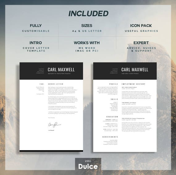 Professional Resume Template | CV Template | Resume Advice | Cover Letter |  Word (Mac or PC) | Instant Digital Download | "|570|569|?|1c6baf51ac1c17395999b46b96dc9845|False|UNLIKELY|0.3468930423259735