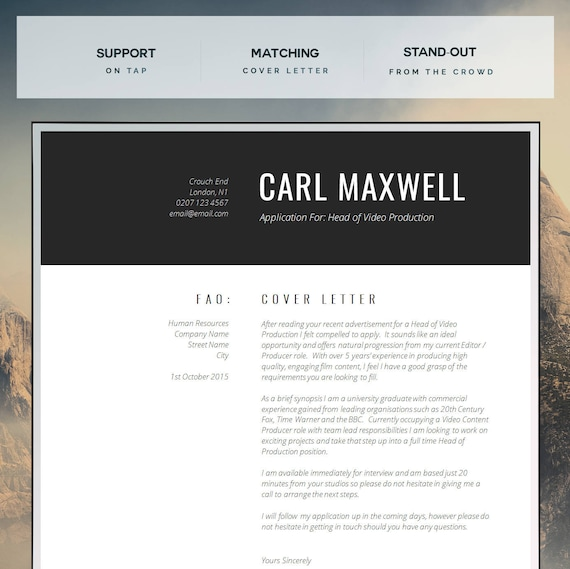Professional Resume Template | CV Template | Resume Advice | Cover Letter |  Word (Mac or PC) | Instant Digital Download | "|570|569|?|91fa7e46e9436afb15784c8a6e7bce17|False|UNLIKELY|0.30243128538131714