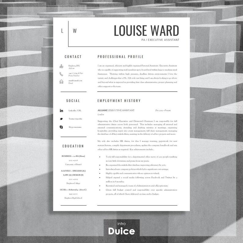 Resume Template CV Cover Letter Advice