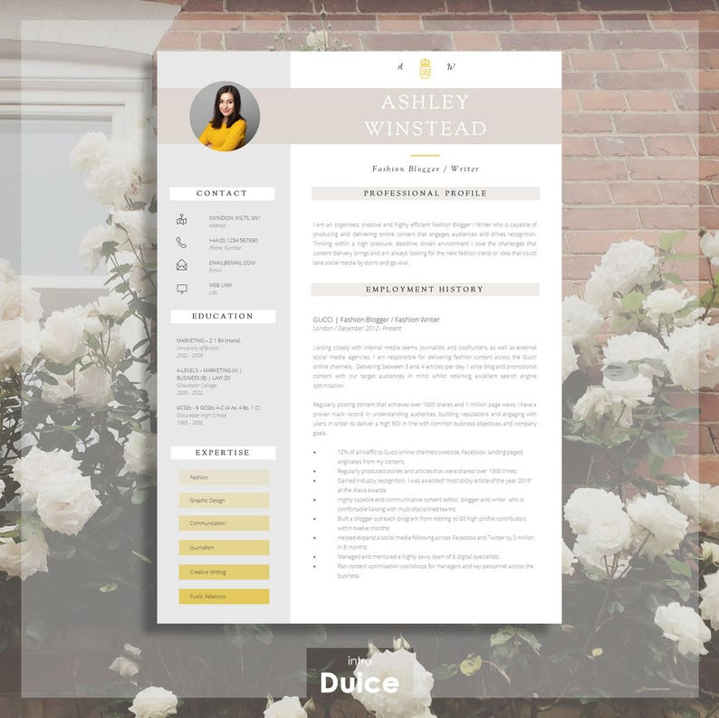Resume Template Creative Two Page