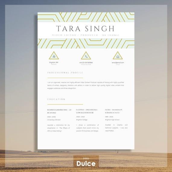 Resume   Elegant Resume Design   Creative CV Design + Cover Letter + CV  Guide + References for MS Word   Download   Word Resume \