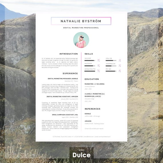 Creative CV Template for Word | Résumé Template for Word + Cover Letter +  Advice | Instant Download | Mac or PC | The "|570|569|?|en|2|c430a0a2fdd8bf161659cef0dc0c1428|False|UNLIKELY|0.3097243309020996