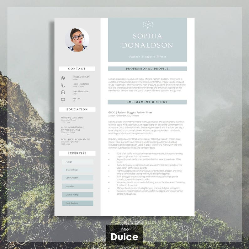 RESUME TEMPLATE | CV / Resume Design + Cover Letter + Advice | Instant  Digital Download | Simple To Edit | "|794|793|?|3bb423f810a034c3403f65ad370e2927|False|UNLIKELY|0.32343387603759766