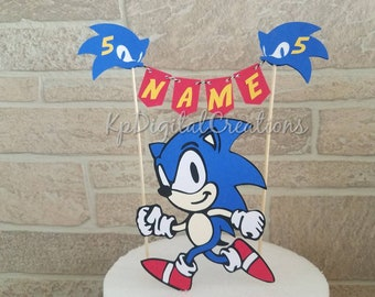 Personalised Sonic The Hedgehog Birthday Wrapping Paper
