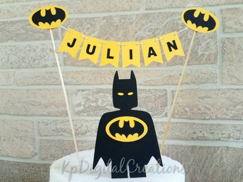 Batman Cake Topper Superhero Birthday Justice League
