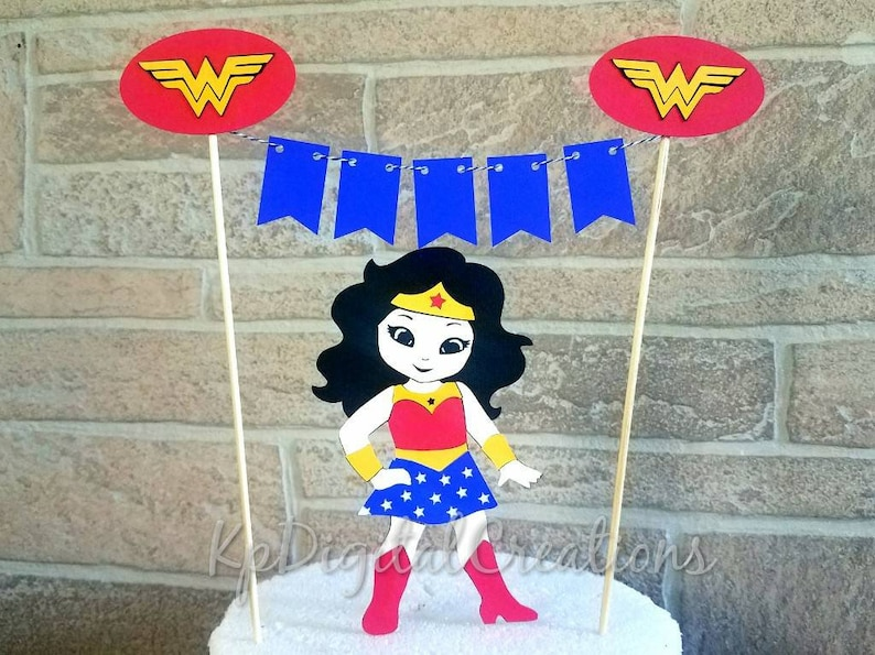 Wonder Woman Cake Topper Justice League Superhero