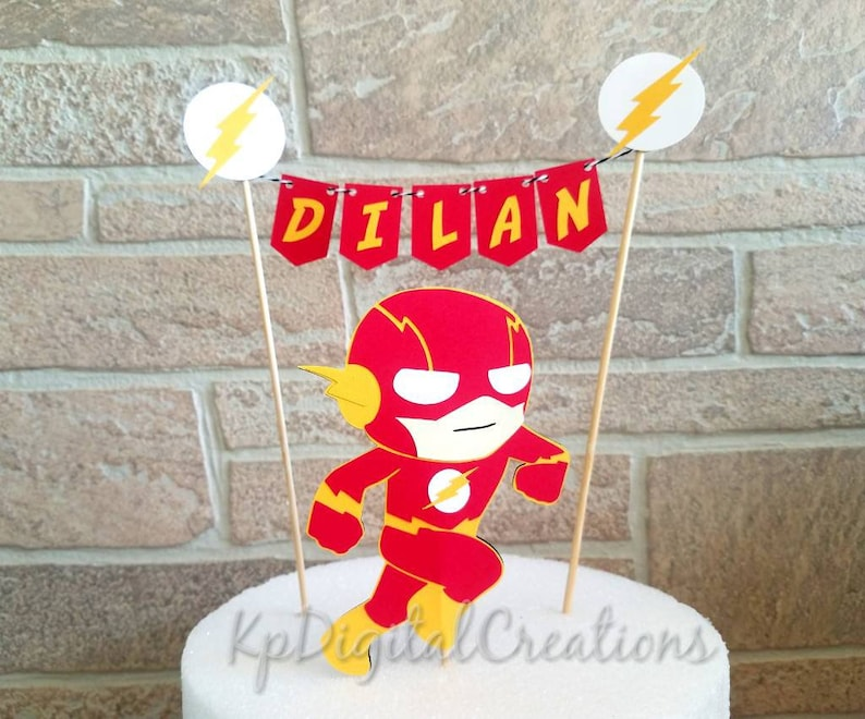 The Flash Cake Topper Birthday Party