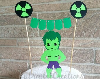 Hulk cake topper, Avengers cake topper, Hulk birthday party, Hulk baby shower, Hulk party decor, Superhero cake topper, Superhero birthday