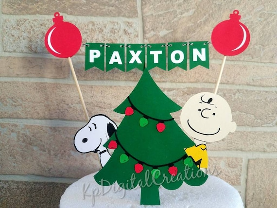 Wondrous Items Similar To Charlie Brown Christmas Cake Topper Christmas Personalised Birthday Cards Paralily Jamesorg