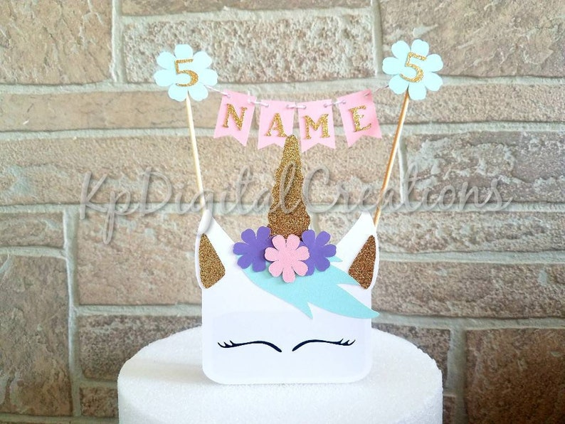 Unicorn Cake Topper Party Birthday