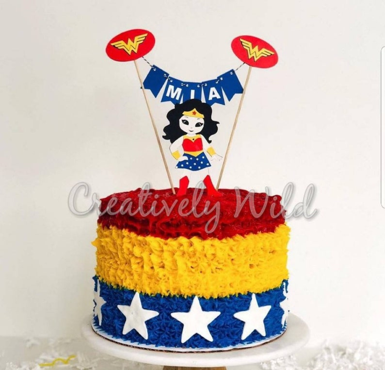 Wonder Woman Cake Topper Justice League Superhero