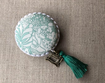 Handmade Macaron Measuring tape made with Liberty of London fabric #21