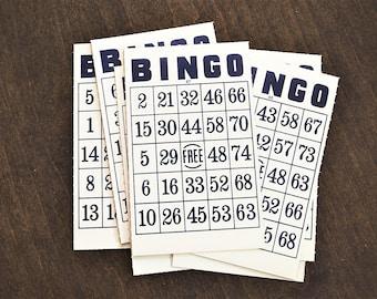 Vintage Bingo Cards, Blue Bingo Cards, Vintage Game Card, Vintage Game Piece,