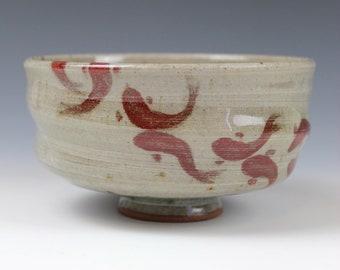 Celadon bowl November 2020 No.5 , Koi fish, Wheel-Thrown