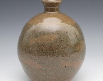 Crackle Vase with Koi Fish September 2020 No.2, Wheel-Thrown