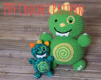 Monster Amigurumi Stuffed Toy Crochet Pattern