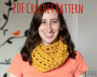 Chunky Windowpane Cowl Crochet Pattern