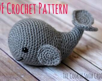 Amigurumi Stuffed Whale Toy Crochet Pattern