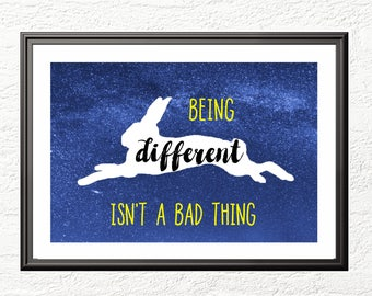 Being Different isn't a bad thing  - A4 Print - Wall Art - Luna Lovegood - Gift - Harry Potter