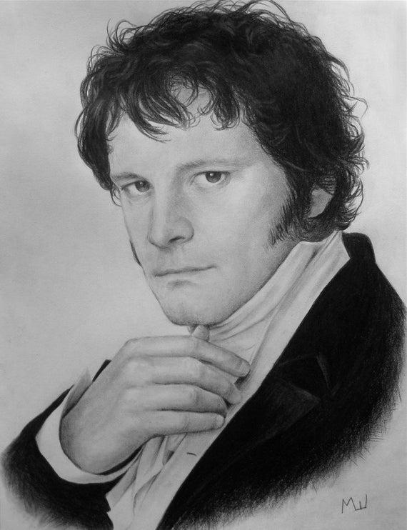 Colin Firth Als Mr Darcy In Stolz Und Vorurteil Original Etsy