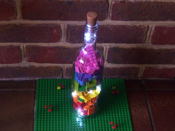 Easter Mother/'s Day Flower Bottle Light Choice of Silk Pink Blossom or Orange and Yellow Daisy Flowers Fairy Light Gift for Her Boxed
