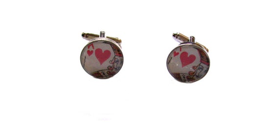 Cufflinks with Holmes and Watson Sherlock Holmes Book Pieces in Velveteen Cufflinks Box Choice of Metals