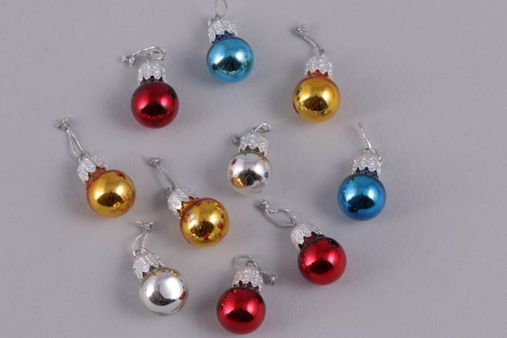 3 sets 1:12 Painted Miniature Christmas Tree Baubles Ornament Doll House in box